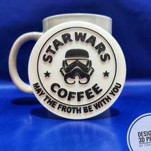 3d printed star war coffee cover coffe tea mug star wars mandalorian baby yoda