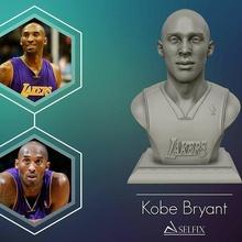 3d escultura Kobe Bryant 3d impresión modelo Kobe Bryant estatua escultura 3d miniaturas figuritas busto baloncesto humano personas cabeza