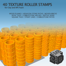 40 clay xps foam texture roller stamp tool boardgame boardgames accessories brick building building blocks clay tools cobblestone cobblestone road cobblestone roller dnd dnd miniature dnd prop dnd tiles dungeon frost grave ho scale 40kminiature miniatures miniature 28mm miniature scenery model railroad model trains rollers scale model scatter terrain stamps stone stone texture surface texture table tabletop game tabletop games tabletop gaming rpg terrain model war game wargames