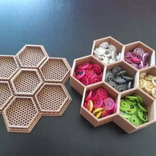 7 hex container small parts games home organization storage container storage small parts storage small container container boardgame