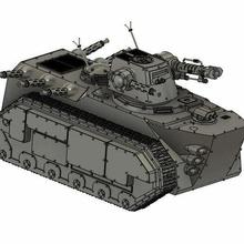 admech gun boat tank admech 40k warhammer adeptus omnissiah disintegrator