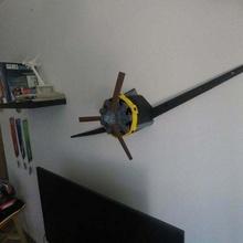 aereo radiale motore parete decorazione aereo decorazione motore elica radiale radiale fan parete parete montare passatempo