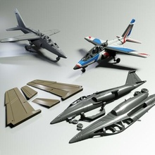 aj 01 formazione Jet combattente facile to Stampa aero aeromobili aereo giocattolo modello miniatura c3d kit assemblaggio ragazzi Jet combattente