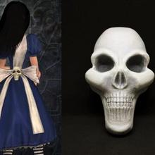 alice madness returns cosplay Schädel Mode alice lidell blau Kleid coslpay Wunderland