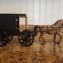 amish buggy home amish buggy amish buggy miniature home decor decor animal horse art