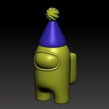 us sombrero cumpleaños us us piel juego impresión 3d pla Arte célula sábado sábado llavero llave cadena cerdito banco tablero pasta dental