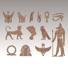 ancient egyptian traditional set 13 model decoration ancient art tree home decor art decoration life wall house room hope ender cnc egypt egyptian traditional cat model raa