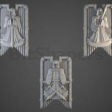 angeles infierno torre escudos león mesa ciencia ficción miniaturas 28mm juego guerra miniatura 3d impresión martillo guerra 40000 40k oscuro angeles oscuro angeles espacio marina protector hoja protector hoja veterano veterano