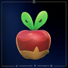 applin Pokemon Pokemon appletun applin galar pokemongo pokemonfigure zukan scaleworld pokedex anime zbrush fan art video gioco