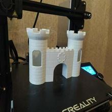 acuario castillo portón acuario castillo pez portón torre 3d_printing