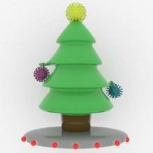 Arbol navidad Coronavirus Weihnachten Covid Coronavirus Kunst Spielzeug Spielzeug Baum Bäume Kunst