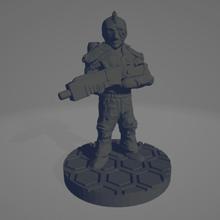 astronaut soldier mohawk 28mm 28mm 28mmscale astronaut grimdark future guard legion marine mass effect miniature 28mm science fiction scifi sister soldier space warhammer games