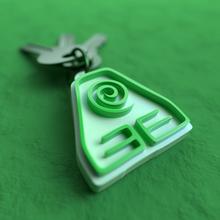 atla earth kingdom keychain avatar the last airbender atla aang korra elements four nations keychain keyholder keys