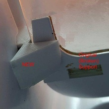 atma refrigerator glass rear shelf support argentina atma refrigerator shelf support kitchen_dining