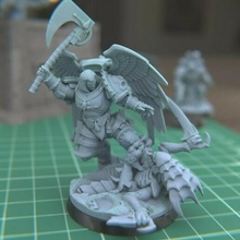 austin space vampire executioner 40k blood angels 28mm space marine mrmcangry mcangry astorath executioner