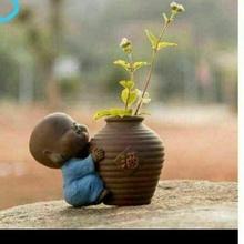 bebê Buda contemplação Panela bebê Buda Buda vaso flores matera jardim plantar plantas casa escritório decoração