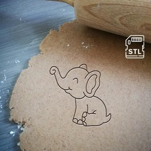 baby elephant cookie cutter baby elephant cute cookie baking cookie cutter dough shape kitchen bake cookies speculoos