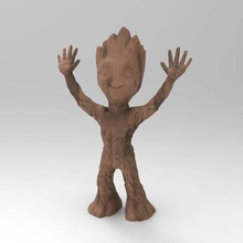 baby groot stand 2 arms baby groot do not want gaurdians no more groots sculptures