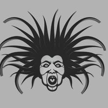 banshee portachiavi Halloween occhio tatuaggio illustrazione orrore arte arredamento svg logo scrivania figurina desktop geometrico design giocattolo testa viso segni loghi gadget Portachiavi