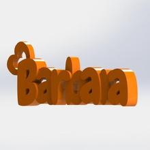 barbara keychain gadget barbara 3d gadget keytag keychain barbara keyring named keychain barbara keychain
