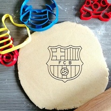 barcelona football cookie cutter soccer football barcelona cookie baking cookie cutter dough shape kitchen bake cookies speculoos