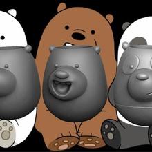 desnudos osos, los osos escandalosos titular de un lápiz - lapicero art joacokin argentina divertido animal el empate red de dibujos animados escandalosos osos los osos desnudo
