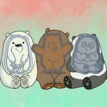 desnudos osos x3 cortador galletas escandaloso osos sharp animal moldes fondant cookies diseño cortadores galletas dibujos stamper oso scandalmongers