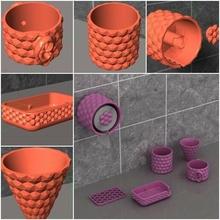 baño unidades conjunto 5 baño unidades imprimible imprimible repuesto rodar soporte baño papel jabón pirámide patrón wc metal baño inteligente idea inteligente plastico abs