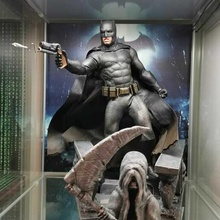batman diorama batman hottoys jouet super héros merveille Dioram mur crâne expo