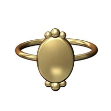 bead crown oval dome band sizes 6 7 8 3d print model jewelry bead ring band fashion jewelry printable gold silver jewellery sterling luxury classic oval dome boho crown bead crown fashion ring dome ring bead ring rings
