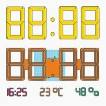 grande digitale orologio ragnatela temperatura umidità orologio umidità temperatura