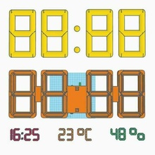 grande digitale orologio v2 ragnatela temperatura umidità orologio digitale gigante casa umidità temperatura domestico