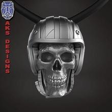 biker skull 1 pendant jewelry jewel jewellery biker gang club riders silver gold mens womens punk fancy jewelri pendant skull rings