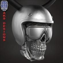 biker skull 2 pendant jewelry jewel jewellery biker gang club riders silver gold mens womens punk fancy jewelri pendant skull rings helmet american glasses riding