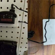 black & decker max 20v battery charger holder 1 pegboard mounting option - step file 20v battery battery black and decker black and decker max black decker charger max 20v max battery pegboard step stp tool_holders_boxes