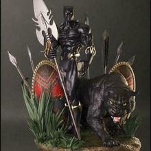 nero pantera figura 3d stampa nero pantera meraviglia gettato tchaka ferro uomo killer figura