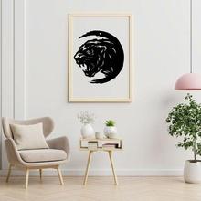 siyah pather duvar Sanat duvar Sanatı hediye siyah Panter Dccomic Duvar askısı ev dekoru duvar Sanat moda kendin yap vazo ürün cult3d beststl cad gadget'lar oyuncak hayvan fotoğraf çerçevesi resim matematik oyunlar
