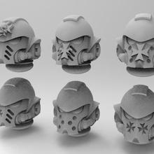 templarios negros primaris casco juego 40k primaris warhammer templarios negros