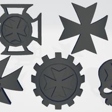 negro templarios unidad iconos moldeado difícil transferencias hombro almohadillas warhammer_40k Marine Espacial space_marines templarios_negros