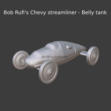 bob rufi's chevy streamliner - belly tank collectible model car hobby retro classic car classic vintage diecast hot wheels 1/43 1/32 1/64 matchbox model kit custom diecast custom kit car vehicle sport car racing car ford race car racing nostalgic record car record speed record saltflats bonneville streamliner hotrod hot rod motorsport salt flats jump racer lakester the mirage 77 40s bobblehead rufi belly belly tank tank chevy chevy hotrod