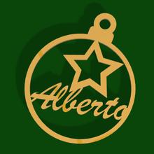 bola Arbol navidad Estrella alberto