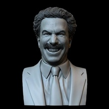 borat sagdiyev sacha baron cohen art borat borat2 sacha baron cohen bust 3dprinting likeness sculpture sidnaique