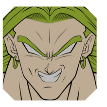 broly broly sfera drago Sayan supersayan dbz Drago palla bola de Drago bola Super guerriero Goku anime manga dibujos decoracion placa lamina ridotto