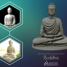 Buda 3d escultura 3d impressão modelo escultura estátua arte mármore Buda antigo budismo esculturas