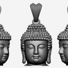 buddha face pendant ready 3d print jewelry gold jewel jewellery jewels buddha face ancient printable silver jewelry figure gautam budha buddhism religious statue sculpture jewish jesus pendants