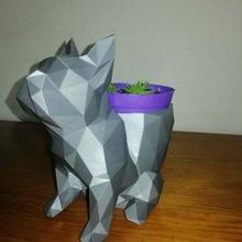 bulldog düşük pol vazo hayvan düşük pol vazo ev dekorasyon