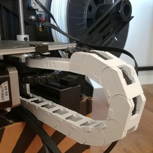 cadena de cable y ender eje 3 de la herramienta Impresora 3d de las piezas ender 3 pro ender 3 ender3pro ender3 creality ender 3 pro creality ender 3 gestión de cables soporte de cable la guía de la cadena la cadena de cable 3d de la cadena de la impresora canal de cable