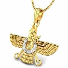 candere zoroastrian diamond pendant jewellery zoroastrian gold pendant pendants - the zoroastrian pendant asho farohar pendant zoroastrian pendant candere pendant parsi jewellery online gold pendant under 4000 gold pendant for men men's gold pendant buy online gold pendant for men