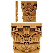 el capitel de ornamento art de madera art muebles decoración la joyería cnc diseño en la arquitectura ornamento
