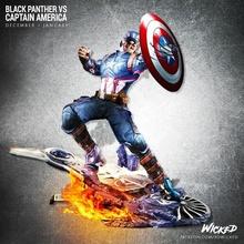 Kaptan Amerika Carol Danvers hayret intikamcı Kaptan Amerika işaret Demir Adam sert Tonystark Hulk örümcek Örümcek Adam Thor gök gürültüsü karınca adam gözüpek vizyon panter siyah Panter roket Thanos özel Sanat